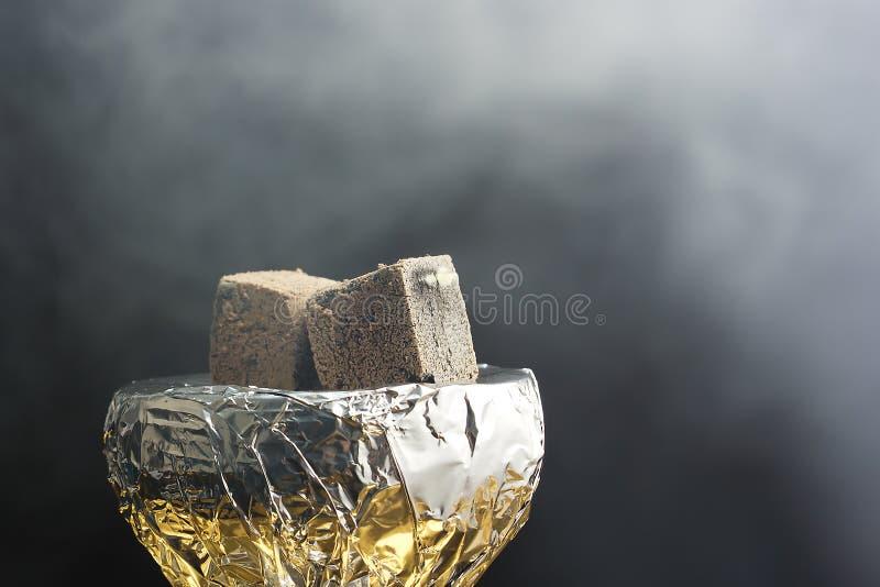 Rust en ontspanning, waterpijp het Roken royalty-vrije stock foto