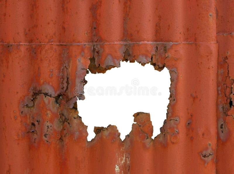 Rust hole stock photos
