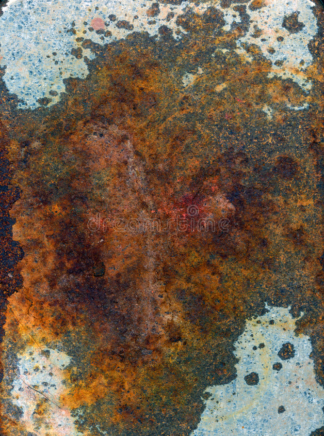 Rust on Metal Surface