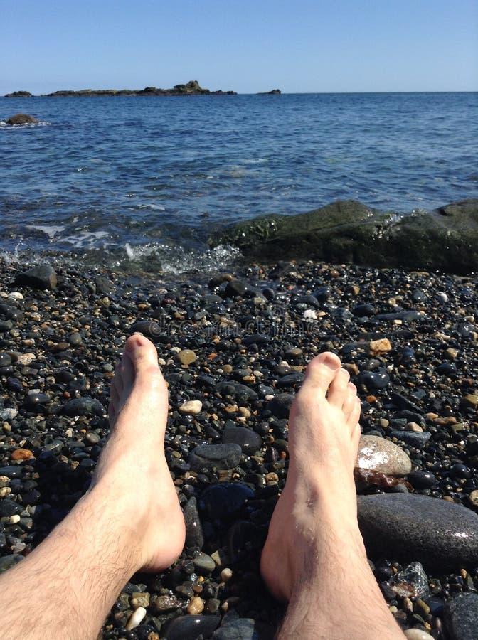 Rust op zee stock fotografie