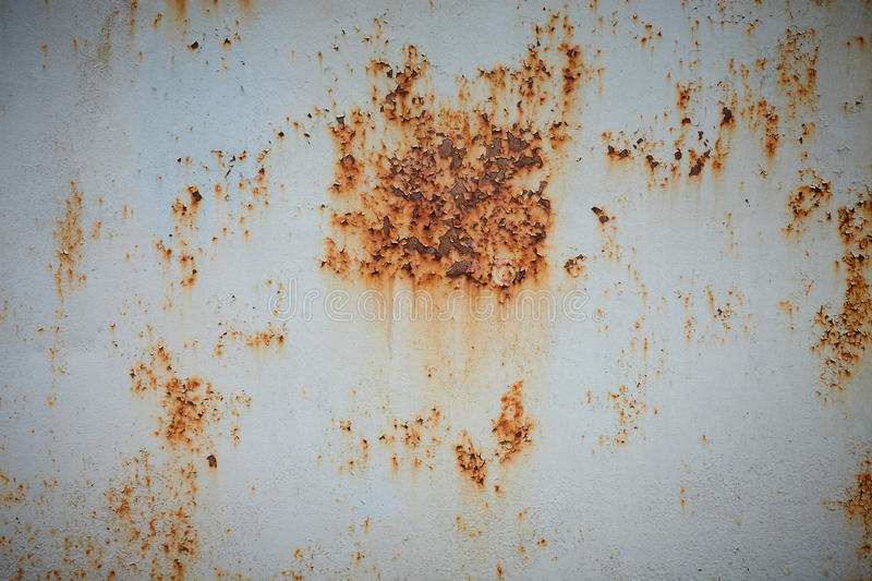 Rust on the painted metal royalty free stock image