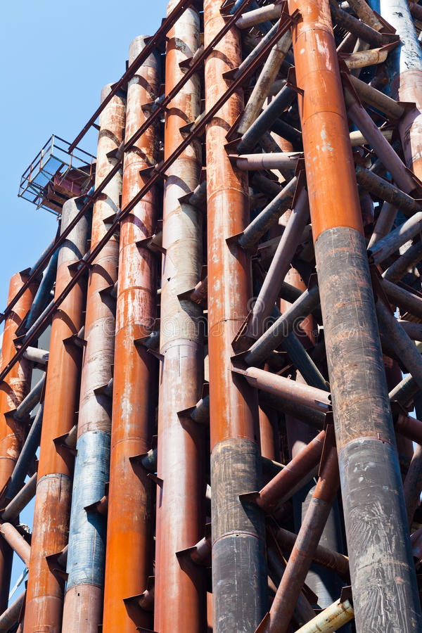 Rust Pipe In Olds Bridge Royalty Free Stock Photo