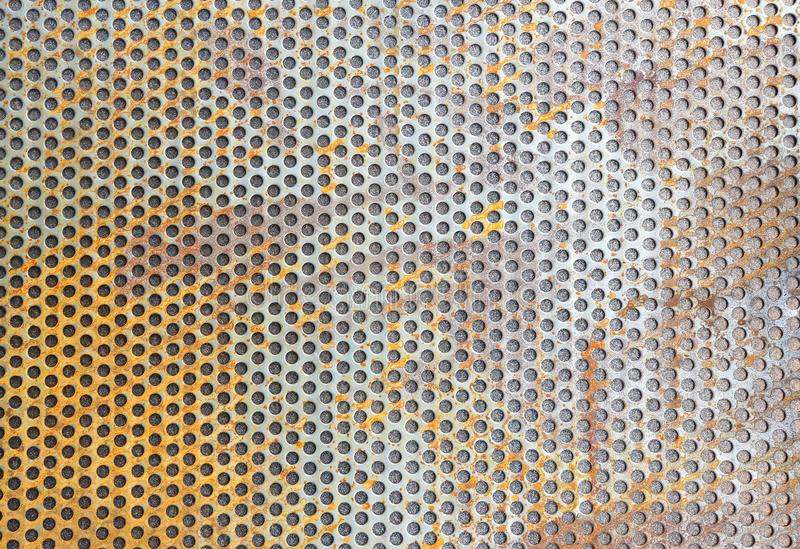 Rust scratched metal grid. A Rust scratched metal grid stock images