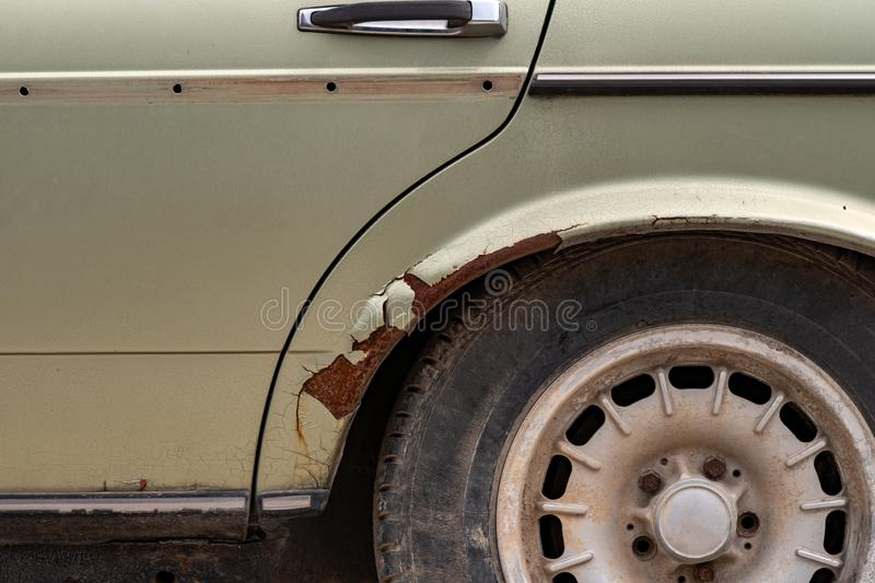 Rust on the car body royalty free stock photography