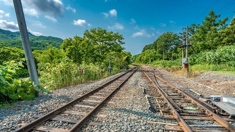 Rust Steel Railway Station Tracks royalty free stock photography