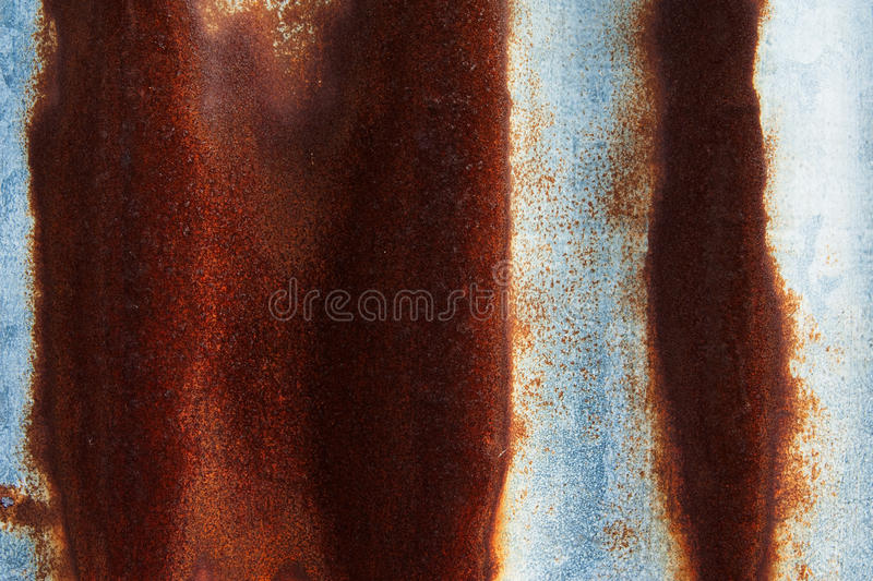 Rust on surface of iron plate