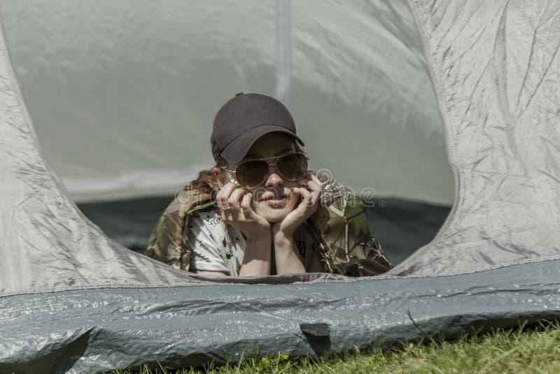 Rust in tent stock foto