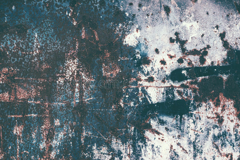 Rust texture. Colorful Rusty old scratched metal textured background stock photography