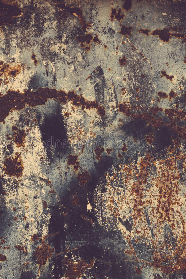 Rust texture. Colorful Rusty old scratched metal textured background royalty free stock photos