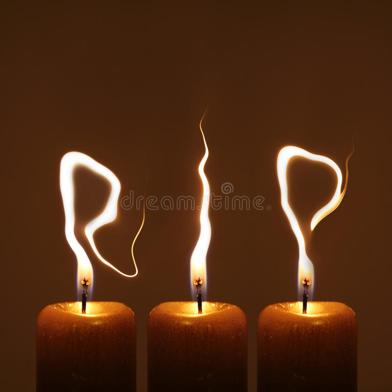Rust in vrede - RIP royalty-vrije stock fotografie