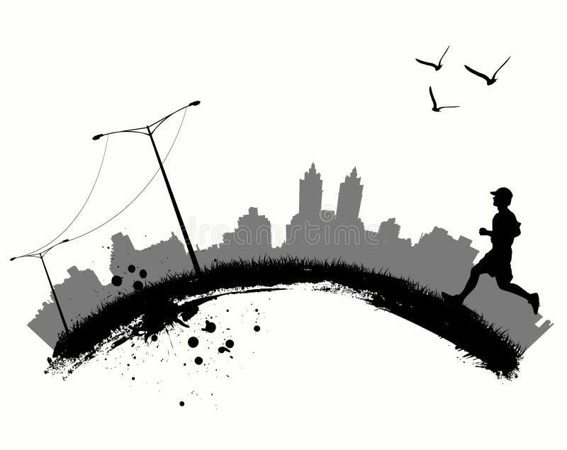 rusta för stad royaltyfri illustrationer