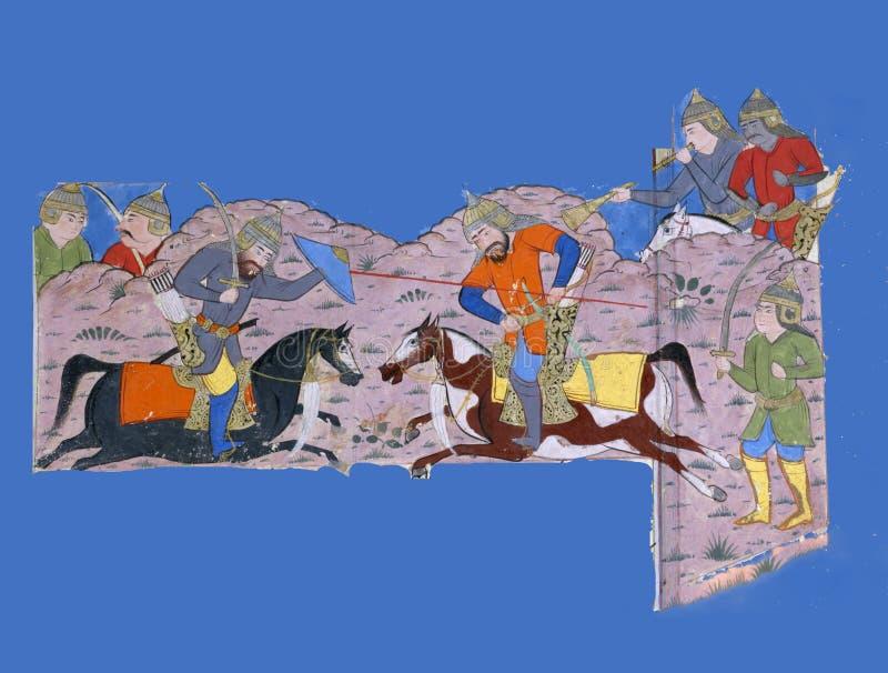 Rustam tue Suhrâb illustration de vecteur