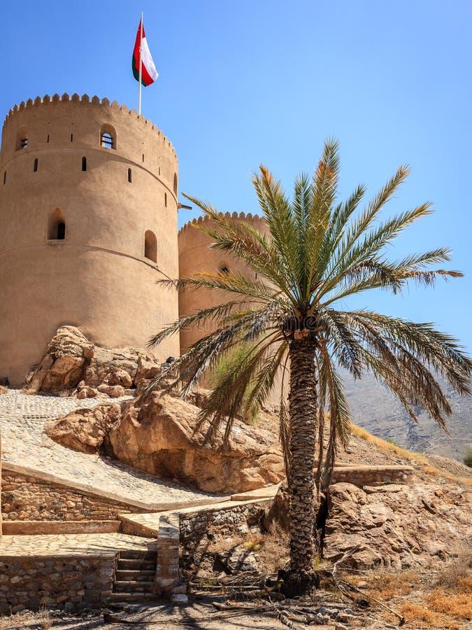 Rustaq堡垒,阿曼 免版税图库摄影