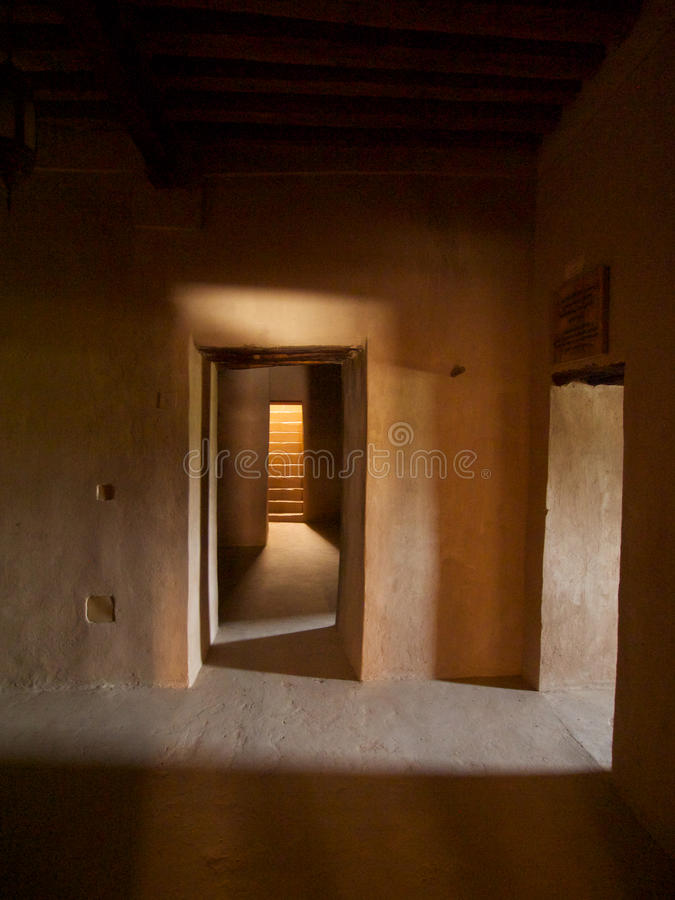 Rustaq fort royaltyfria bilder
