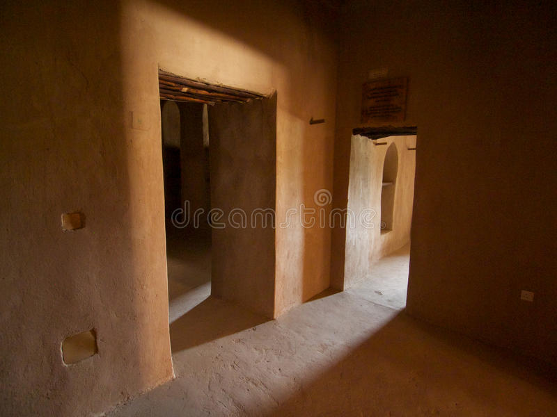 Rustaq fort obraz stock