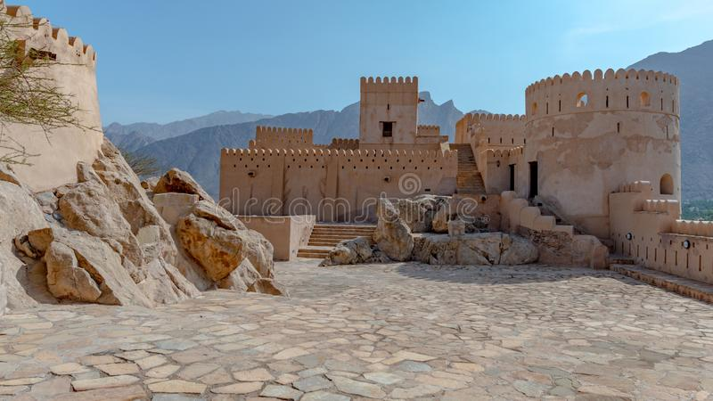 Rustaq Fort, Oman royalty free stock photography