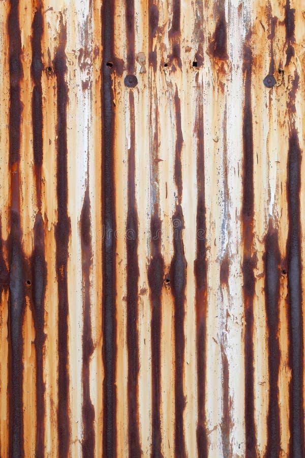 Rusted使金属成波状 库存图片