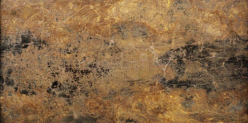 Rusted腐蚀了表面 抽象织地不很细金属全景backg 免版税库存照片