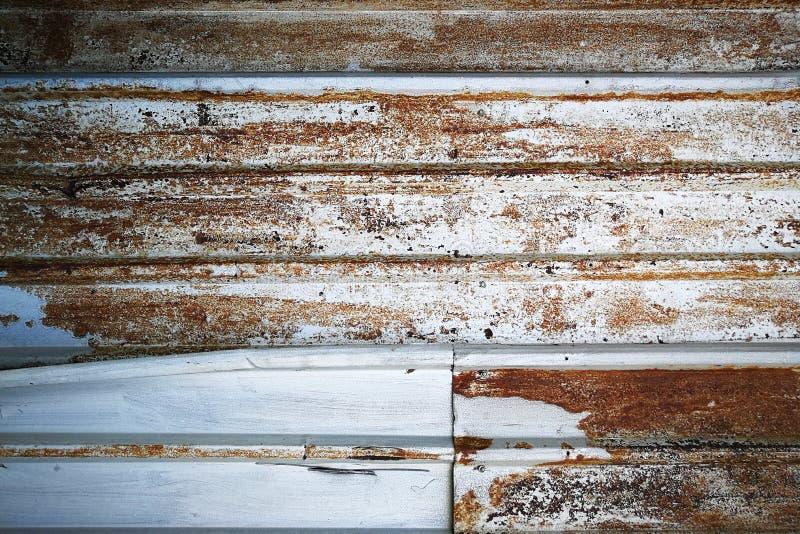 Rusted金属墙壁背景,葡萄酒纹理 免版税库存图片