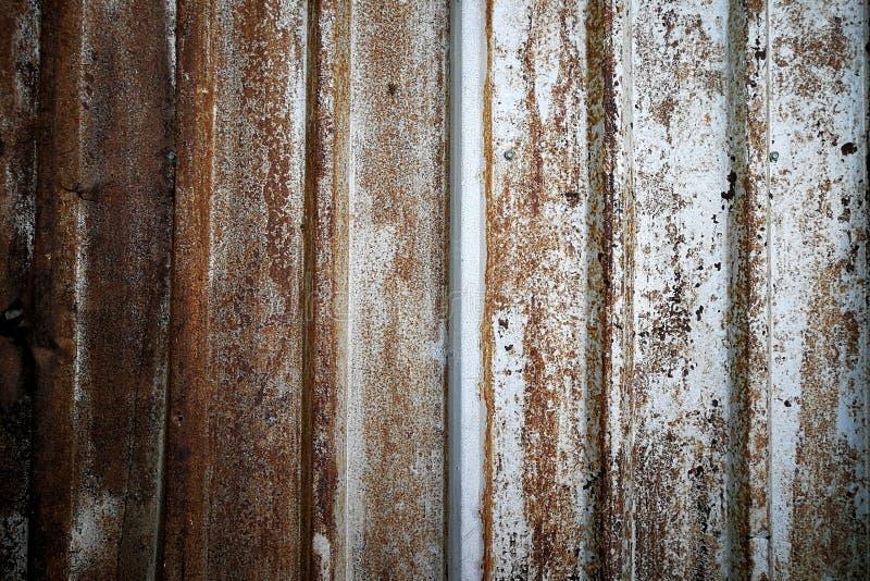 Rusted金属墙壁背景,葡萄酒纹理 免版税库存照片