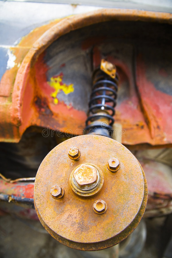Download Rusted car parts stock photo. Image of metal, drum, suspension - 5148846