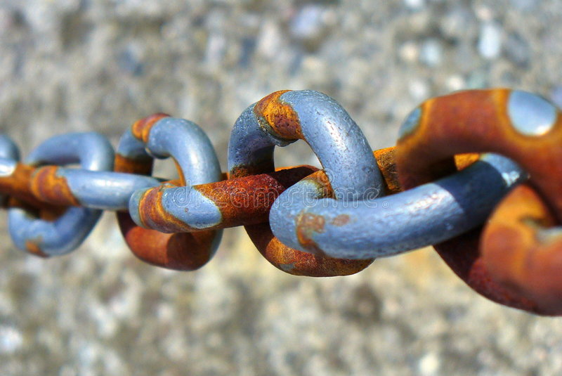 Rusted chain royalty free stock photo