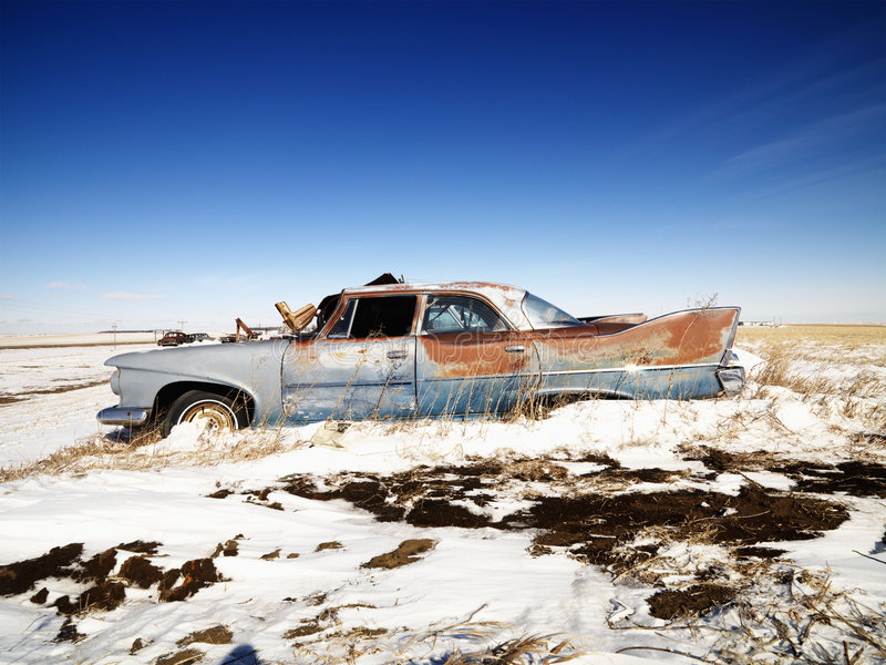 Rusted Classic Car. Stock Image