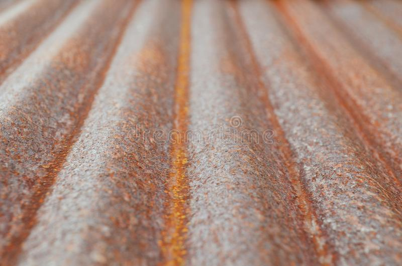 Rusted corrugated galvanized iron plate on natural light stock images