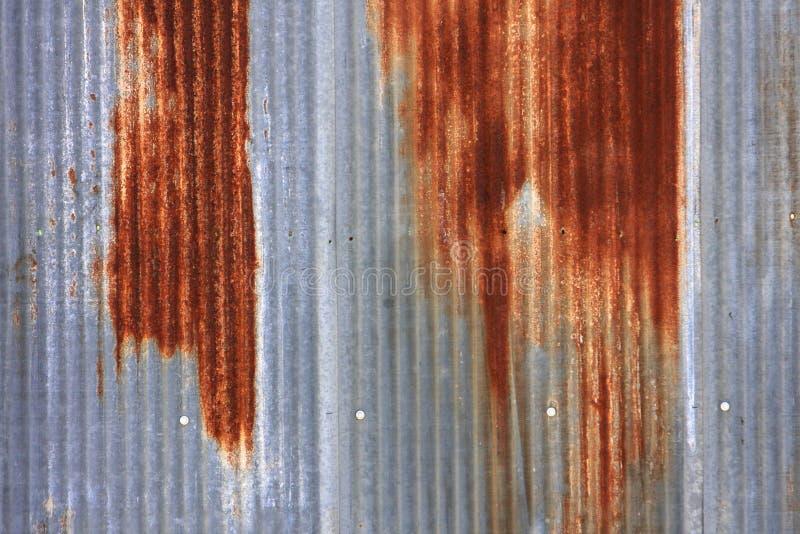 Rusted Corrugated Sheet Metal Siding Stock Photo Image