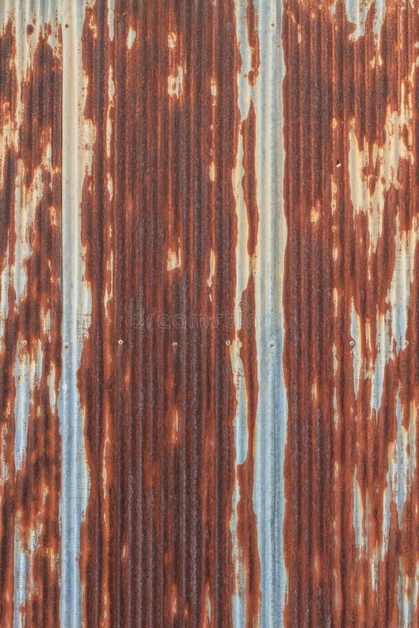 Rusted a galvanisé la plaque d'appui de fer images libres de droits