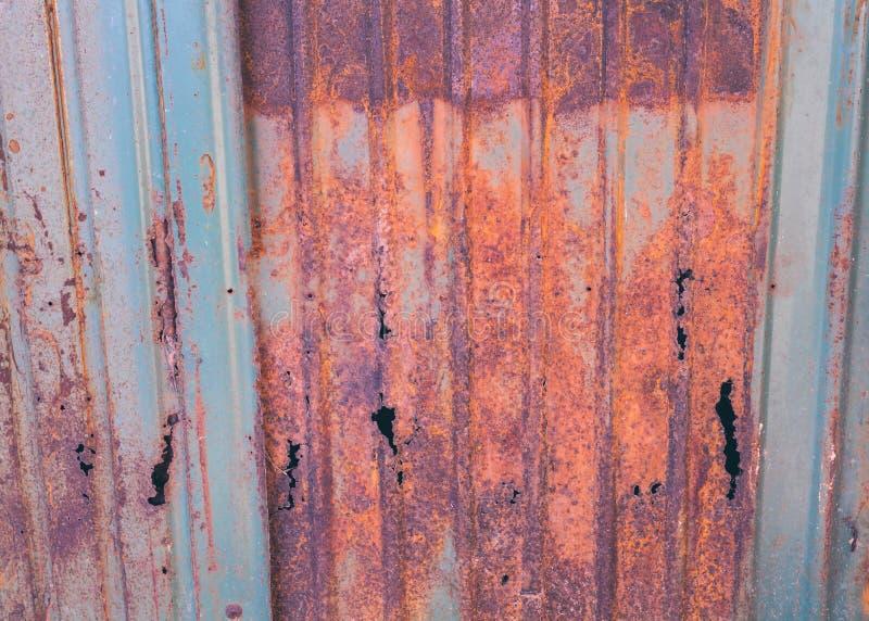 Rusted galvanized iron plate grunge texture stock image