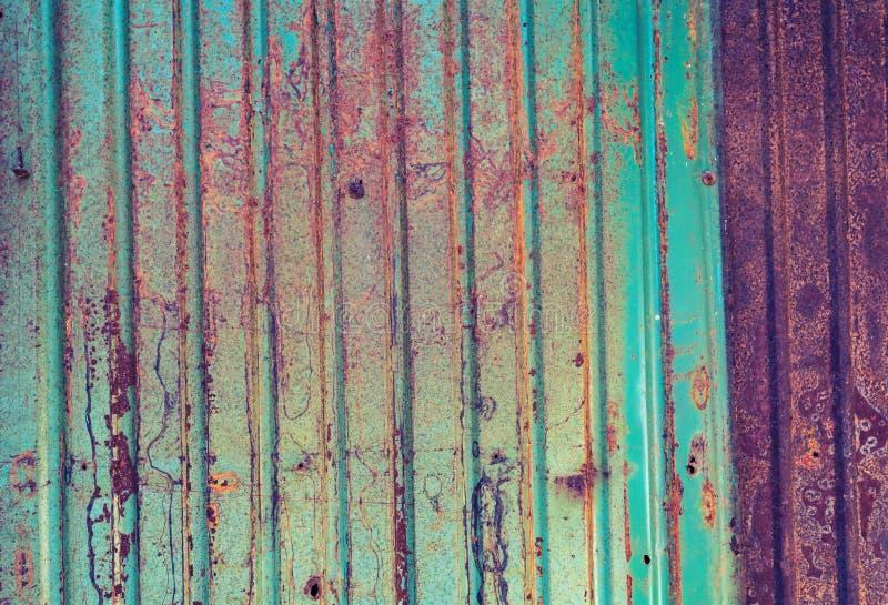 Rusted galvanizou a textura do grunge da placa do ferro imagem de stock