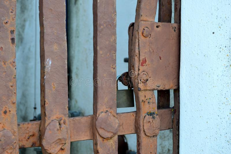 Rusted gate stock photography