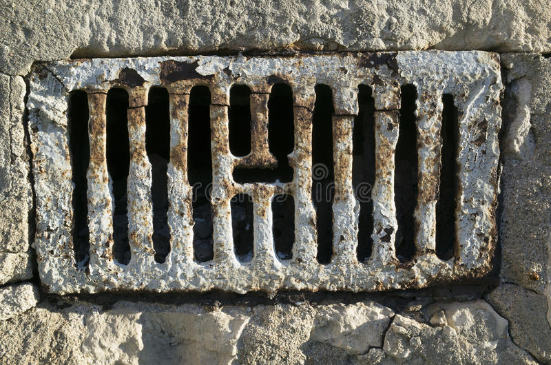 Rusted grate stock image