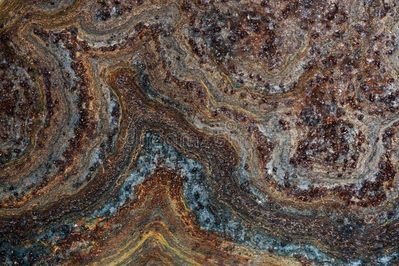 Rusted ha corroso la superficie Fondo strutturato astratto del metallo - immagine stock