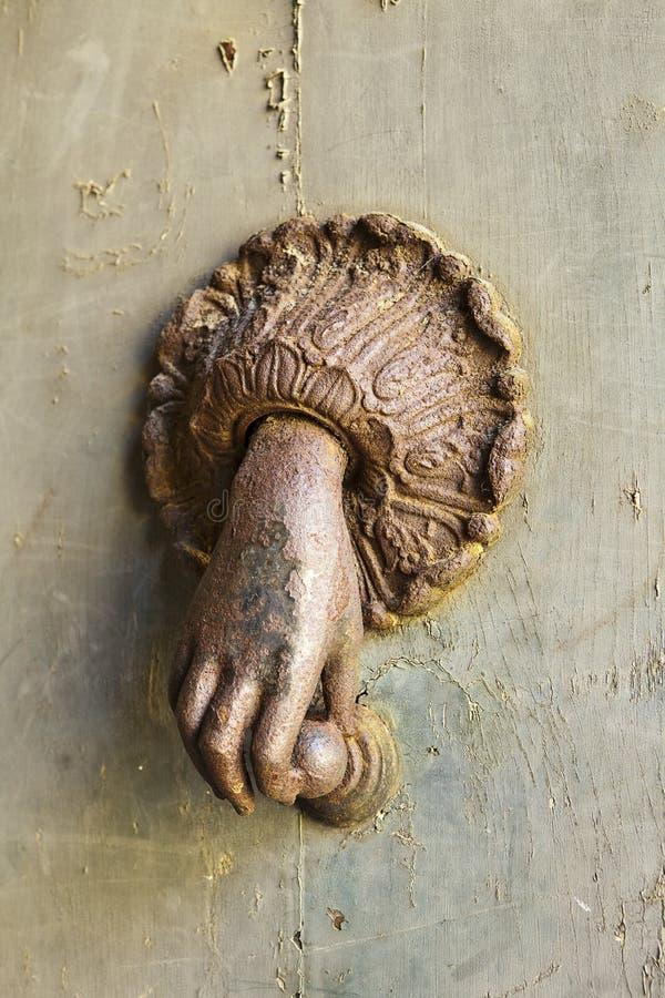 Download Rusted Hand Door Knocker stock photo. Image of fingers - 22935752