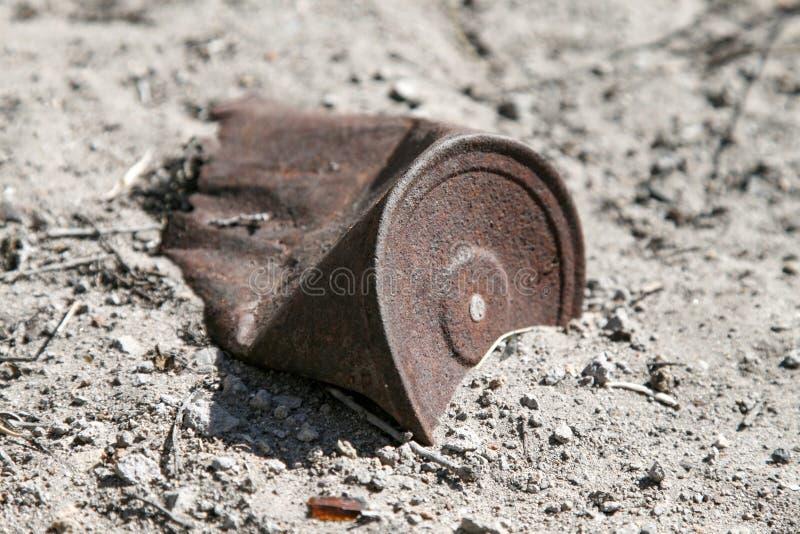 Rusted kan arkivbild
