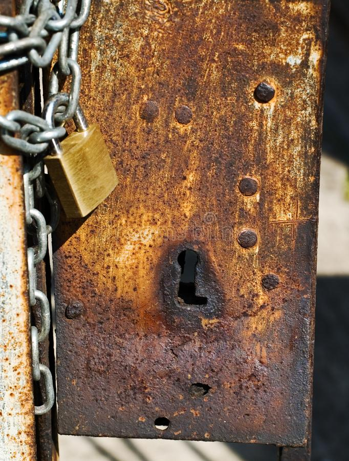 Download Rusted keyhole stock photo. Image of rusted, metal, safety - 7015250