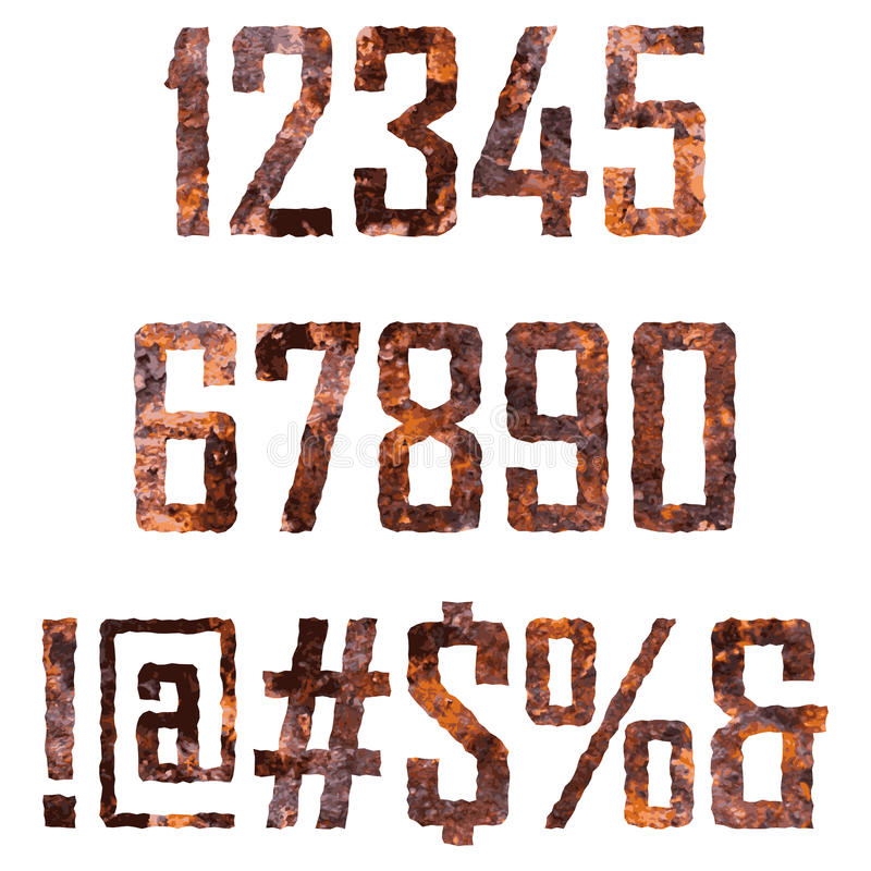 Rusted letters vector illustration