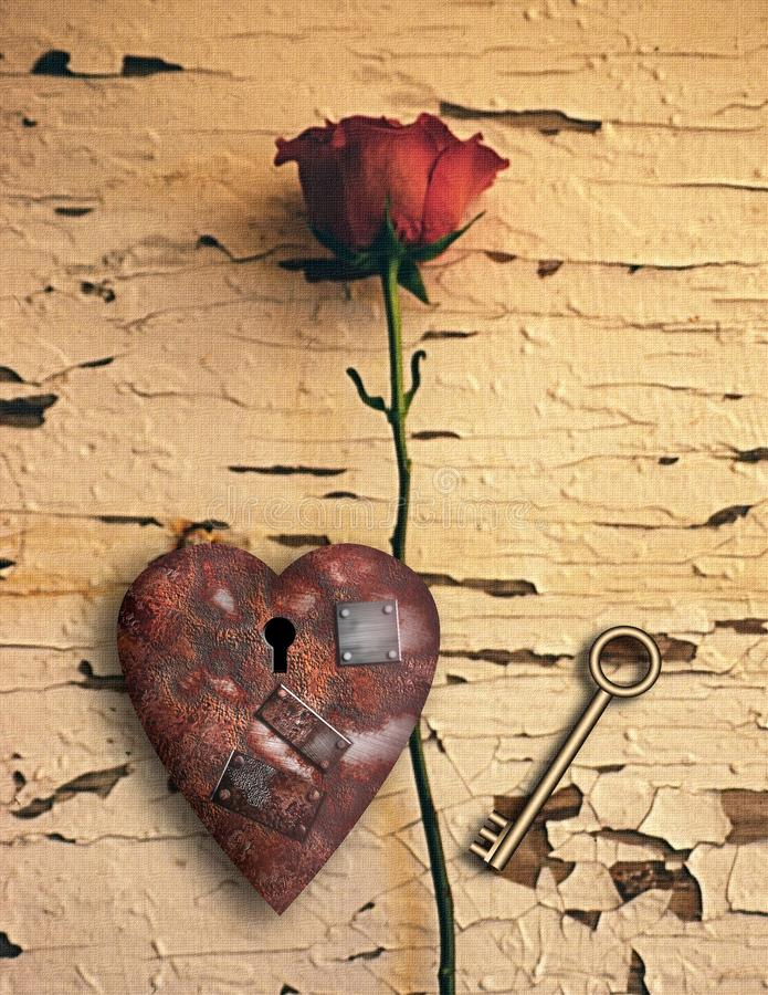 Rusted love royalty free stock photos