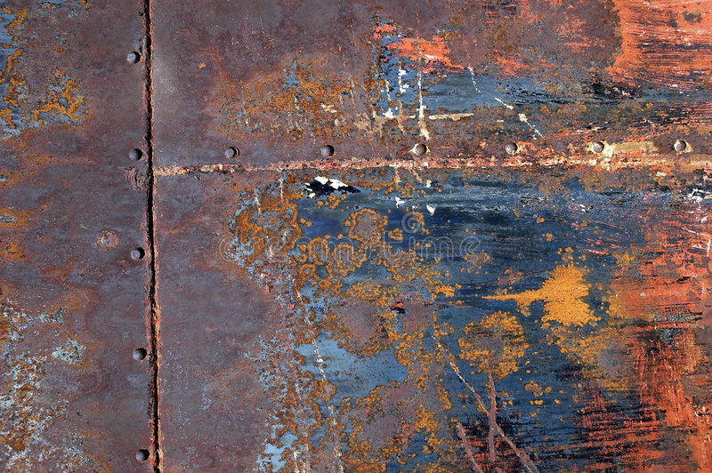 Rusted Metal Background 13. Detailed closeup of colorful rusty sheet of old metal stock photos