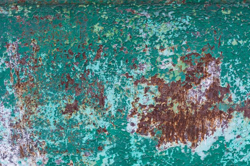 Rusted metal background with cracked paint stock images