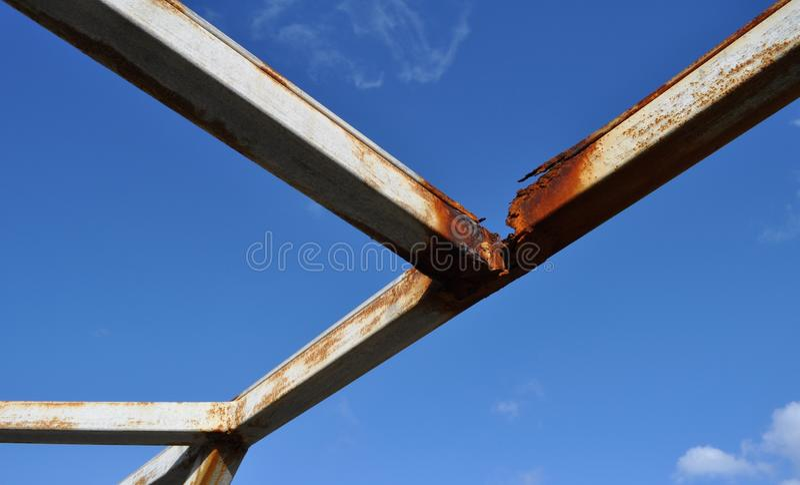 Download Rusted Metal Beams stock image. Image of deteriorate - 18524909