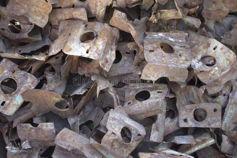 Rusted metal iron parts. royalty free stock image