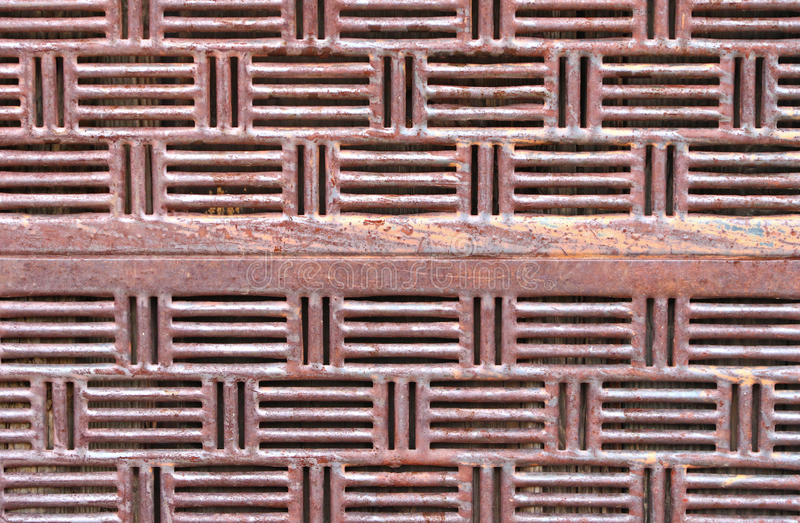 Rusted metal pattern stock image