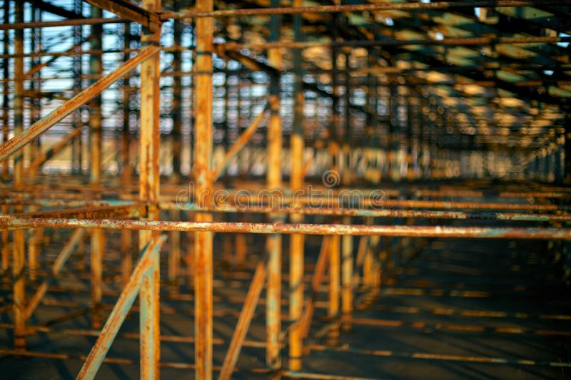 Download Rusted Metal Structure stock image. Image of blur, shadows - 39504019