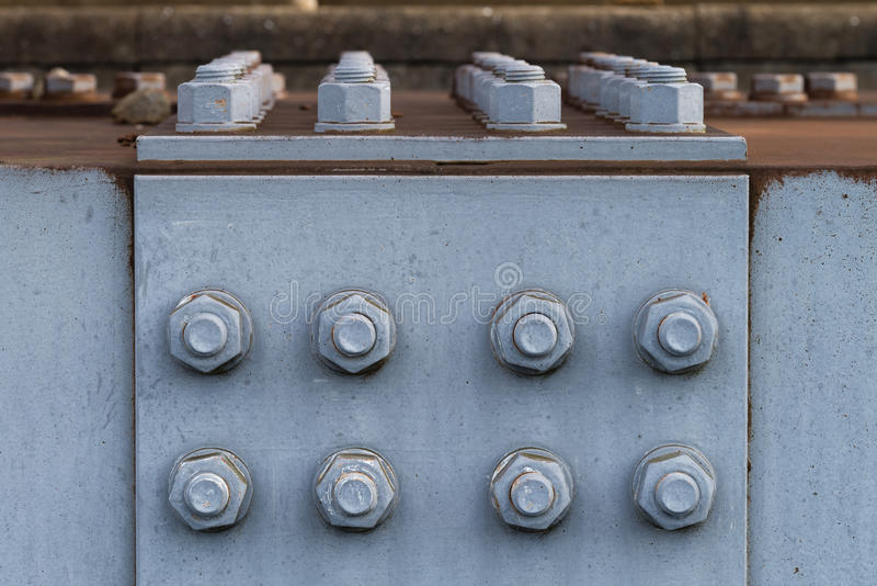 Rusted Nuts and Bolts royalty free stock images
