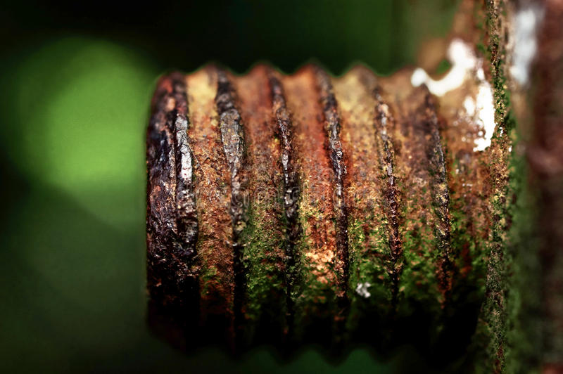 Download The Rusted Old Iron Nut Which Can't Be Turned Off Stock Image - Image: 26594347