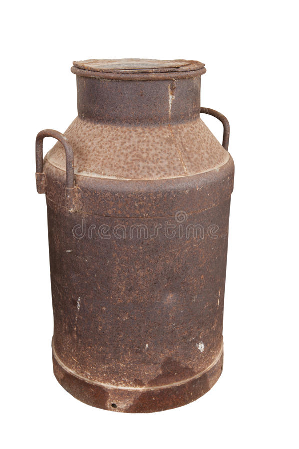 Free Rusted Old Milk Container Royalty Free Stock Images - 35442669