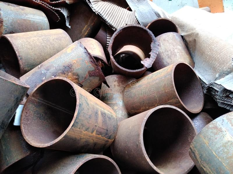 Rusted Pipes royalty free stock photography